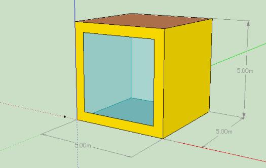 5m×5m×5mの簡易なモデル