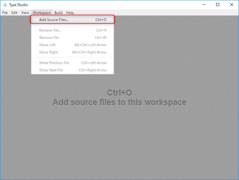 TypeStudioでエクスポートしたソースコードを読み込む