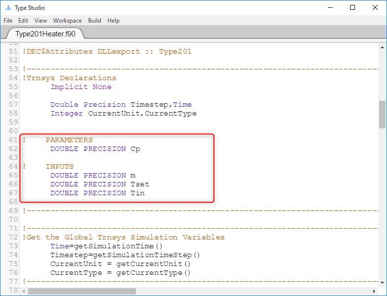 Proformaで定義したParameter,Inputに対応する変数