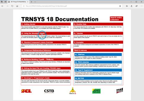 TRNSYSのPDF形式のドキュメント