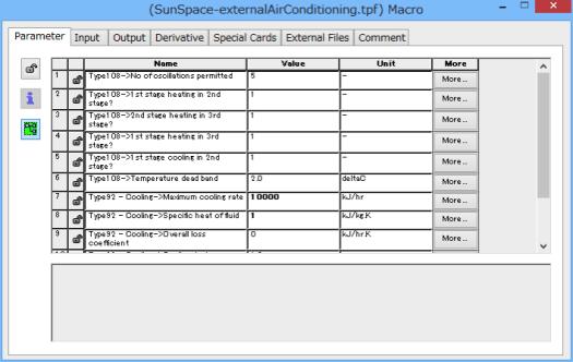 Macroに含まれるすべてのコンポーネントのParameterが表示される
