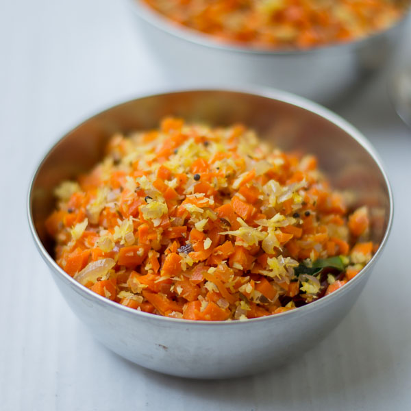 South-indian-style-tamil-carrot-poriyal-recipe