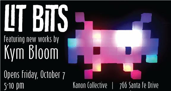 LIT BITS, new works by Kym Bloom