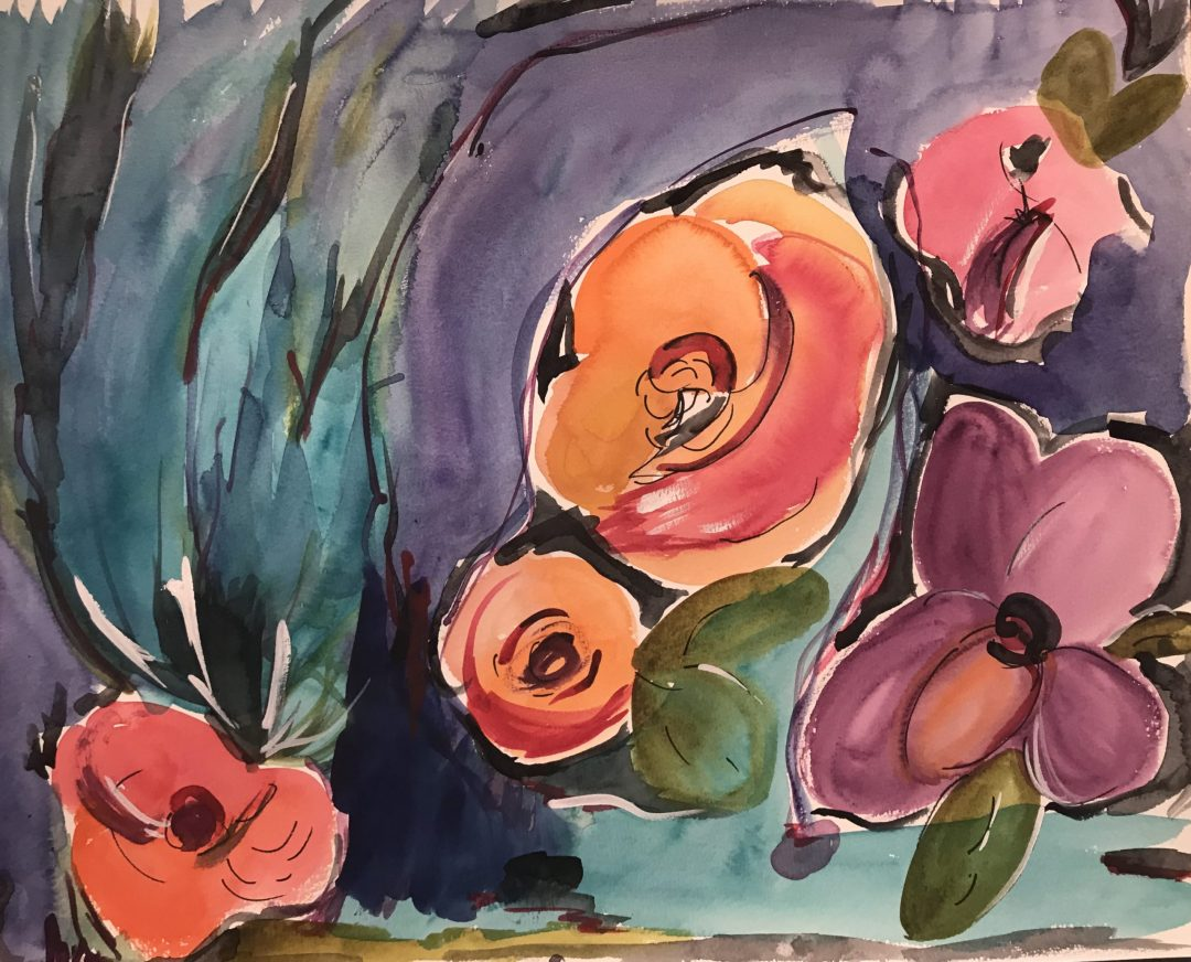 Moody Flowers, by Adrienne Sommers