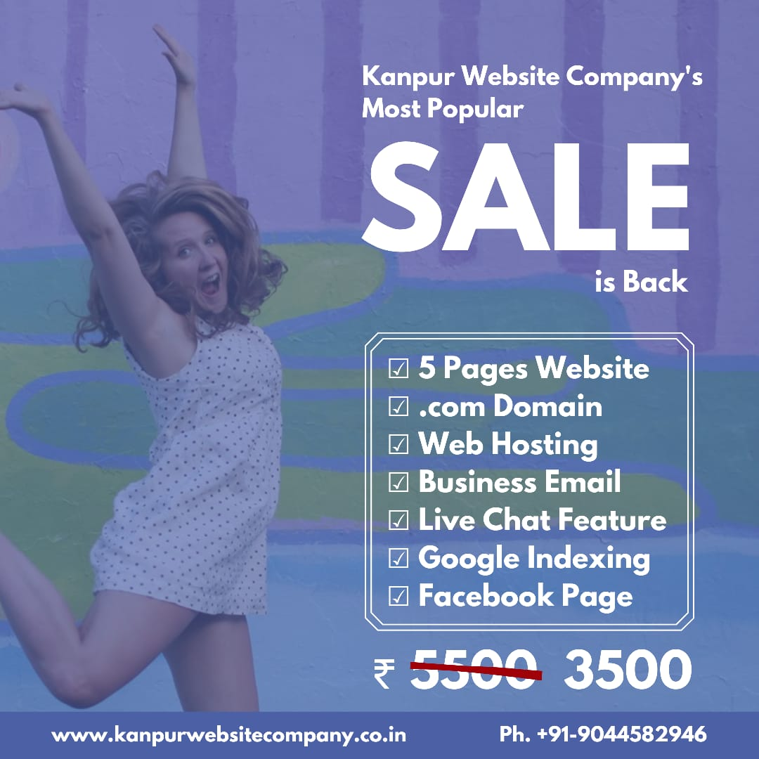 ₹ 3500 Website Designing Cost in Kanpur