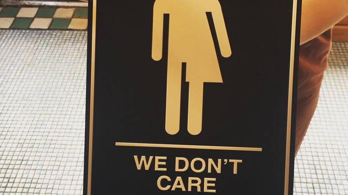 KC artists We Dont Care genderneutral bathroom sign