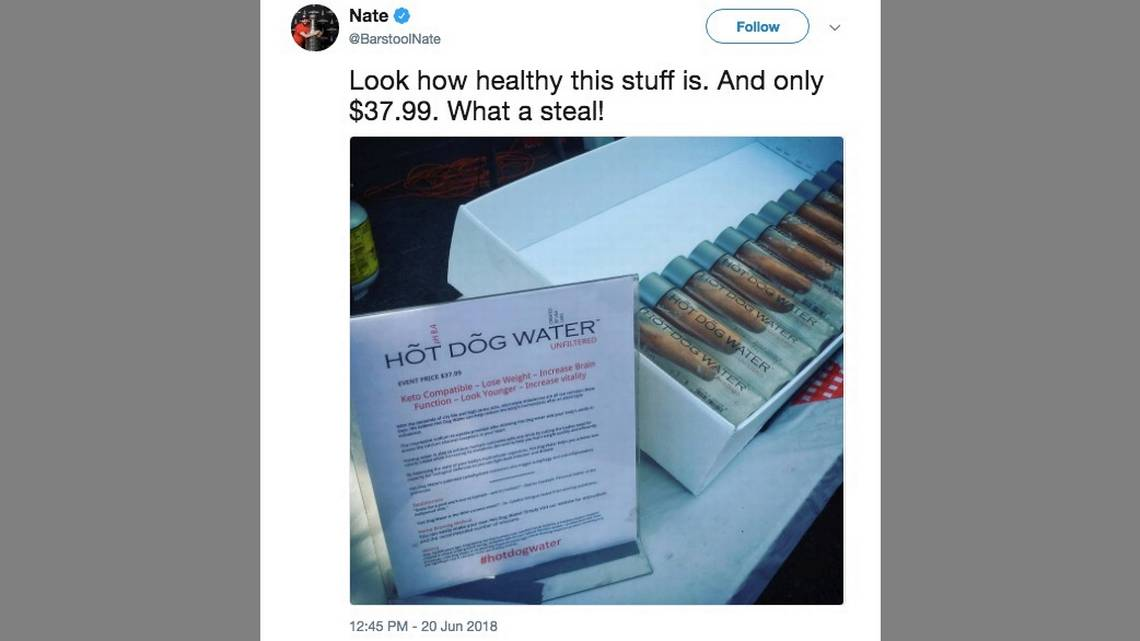 Canadian artist sold 28 bottles of hot dog water  The