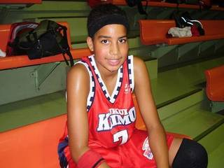KU forward Landen Lucas at 12 years old during his stay in Japan.