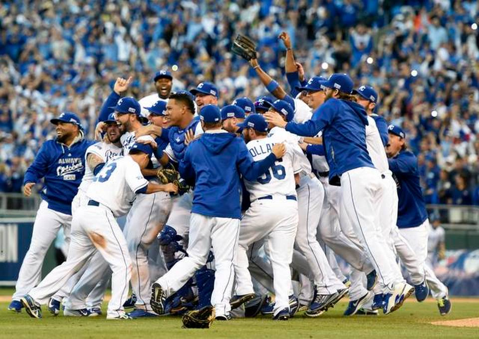 Image result for 2014 alcs game 4 royals win pennant