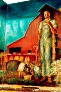 John Steuart Curry Murals state capitol Topeka  8