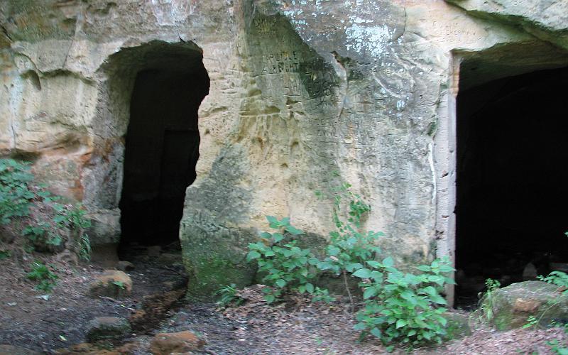 Kanopolis Lake Waterfall Information Center  Faris Caves