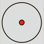кръг с точка