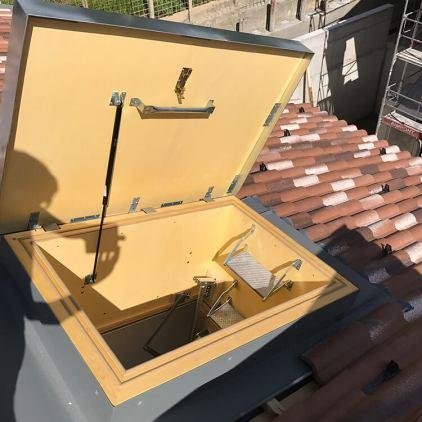 Dachtreppe - Schrägdachausführung - Thermoisoliert