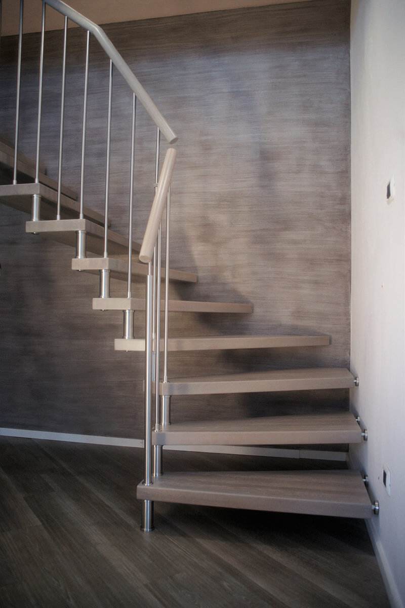 Treppe in Eichenholz