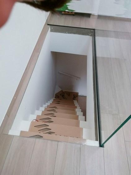 Scala con inserti illuminazione Led nei gradini
