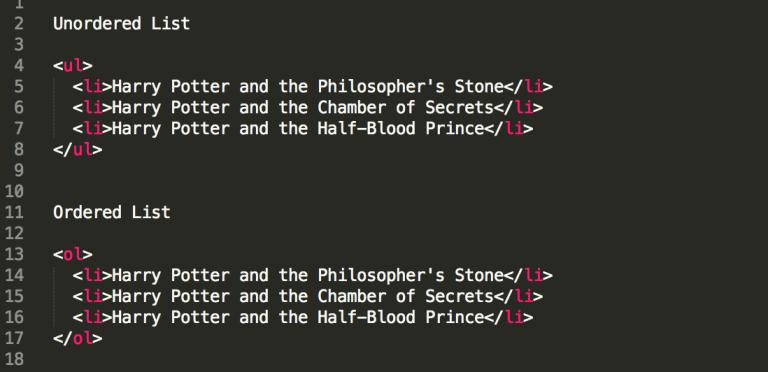 Example HTML Code for Tables | Kanuka Digital