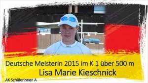 Lisa Marie Kischnick !. Platz DM 2015 K 1 500 m