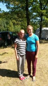 Johanna Hess (Rechts) Lena Münch (Links) 6. Platz weibliche Jugend K2 5000 Meter