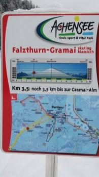 klare Angaben ... nicht mehr weit bis zur Gramai-Alm