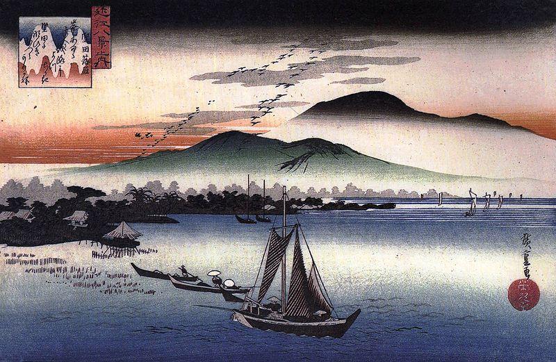 琵琶湖畔的風物在紫式部細膩的筆下
