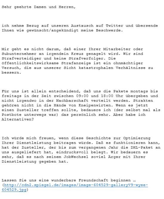 Bundesnetzagentur Beschwerde Dhl
