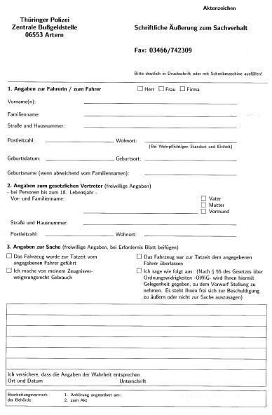 Zeugenfragebogen