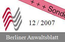 Berliner Anwaltsblatt mit Rezension zur Anwaltssoftware LawFirm