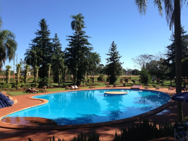 The pool at Hostel Inn Iguazu - Kapcha The World