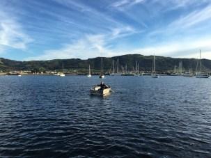Man rowing a boat, Apollo Bay, Great Ocean Road