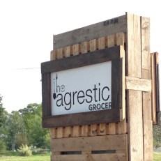 Agrestic Grocer Road SIgn, Orange Wine Tours