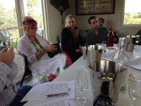 Group wine tasting at Hedberg Hill Wines, Orange Wine Tours