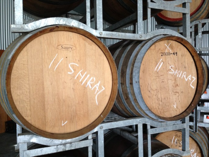 Wine barrels, Orange Mountain Wines, Orange Wine Tours