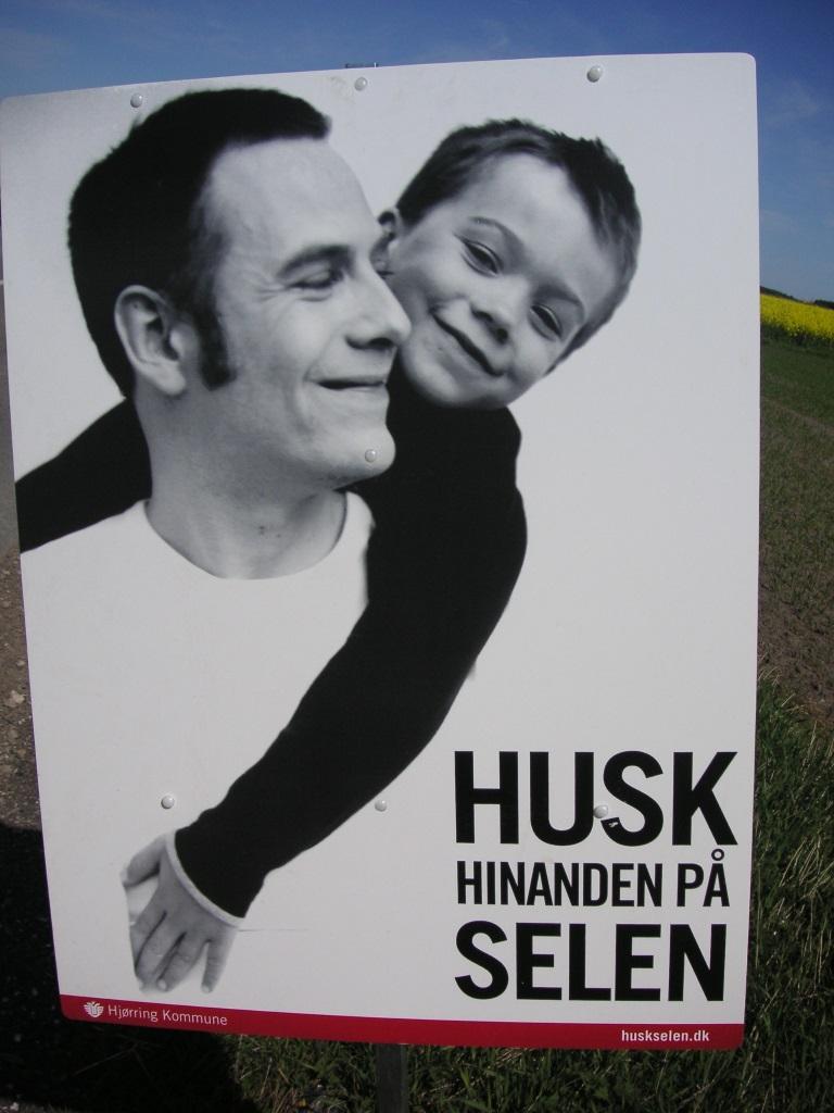 Schilder an Dänemarks Straßen  – Husk selen