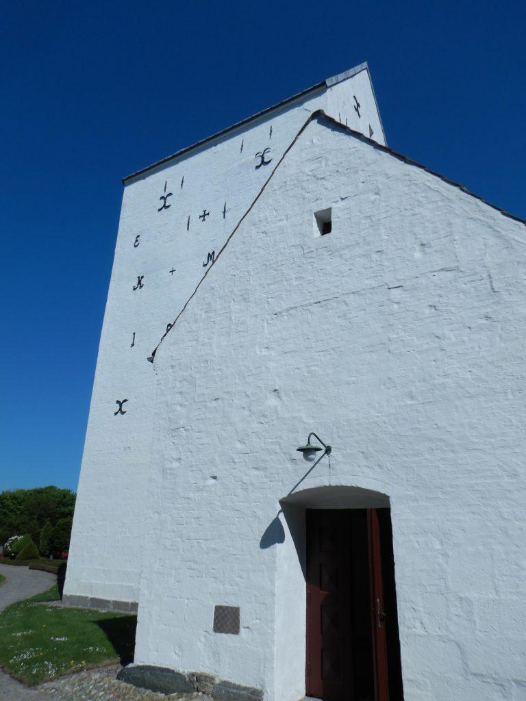 Skallerup Kirke, Südseite Vorhalle