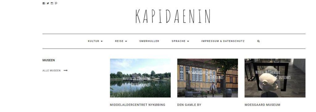 Verzeichnis Museen in DK