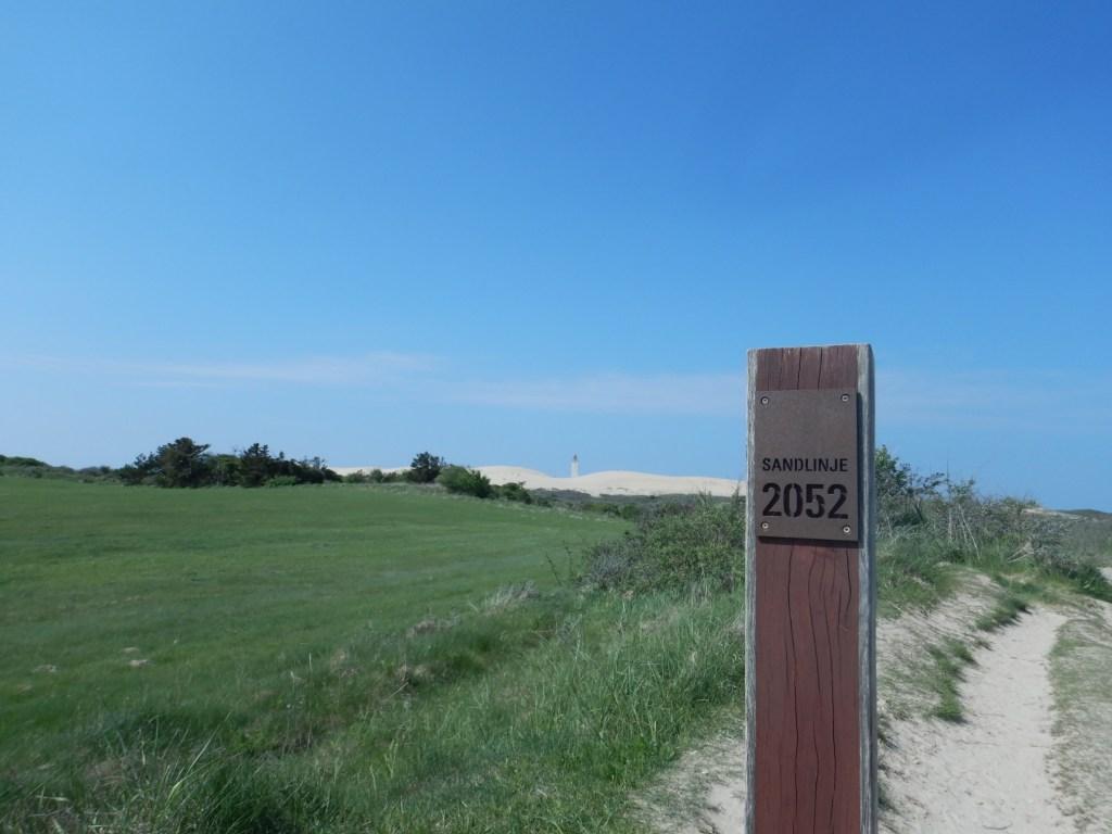 Auf dem Weg zum Leuchtturm Rubjerg Knude Fyr Sandlinje 2052