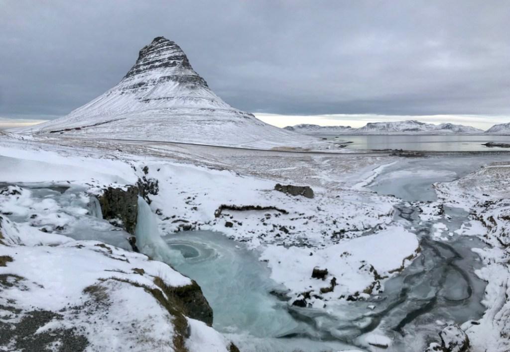 Der Kirkjufell im Westen der Halbinsel Snæfellsnes