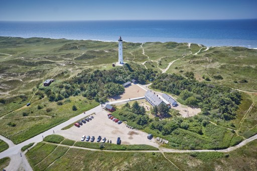 Blick auf den Leuchtturm Lyngvig Fyr