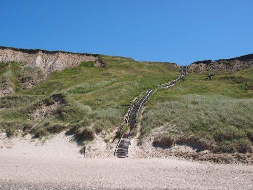 Steilküste bei Bovbjerg fyr - Treppe