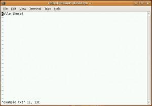 vim editor dalam mode command