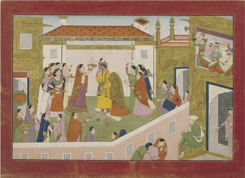 The Marriage of Krishna and Rukmini 1 scaled - Masterworks & Museum Accessions