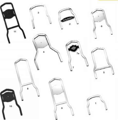 Genuine Harleydavidson Sissy Bar Sideplates For Xl Models