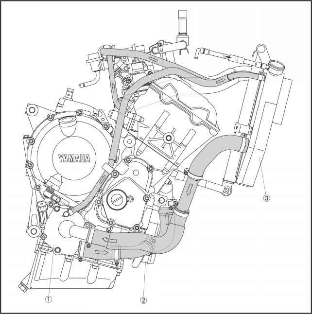 Yamaha R6 Engine Oil Routing, Yamaha, Free Engine Image
