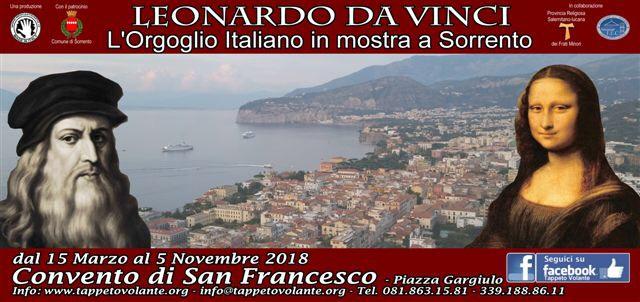 Mostra Leonardo da Vinci, l'orgoglio italiano a Sorrento