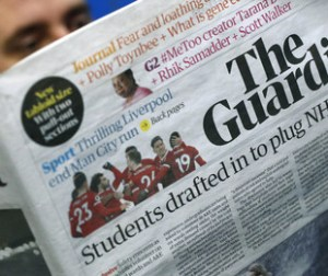 "Il giornale ""The Guardian"""
