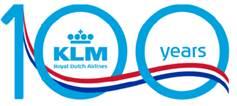 KLM offre 100 euro di sconto per i suoi 100 anni