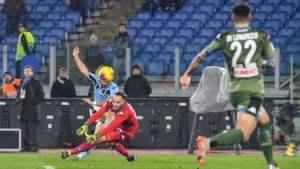 Il gol di Ciro Immobile che ha sentenziato l'ennesima sconfitta per la squadra azzurra