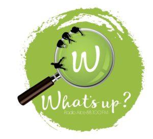 """Il logo ufficiale del format """"What's Up"""" di Radio Alce"""
