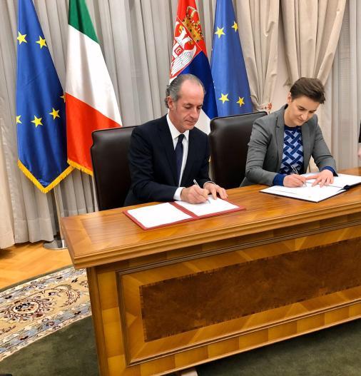 Veneto e Serbia confermano una collaborazione storica