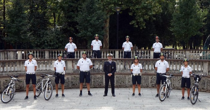 Treviso, polizia locale in mountain bike
